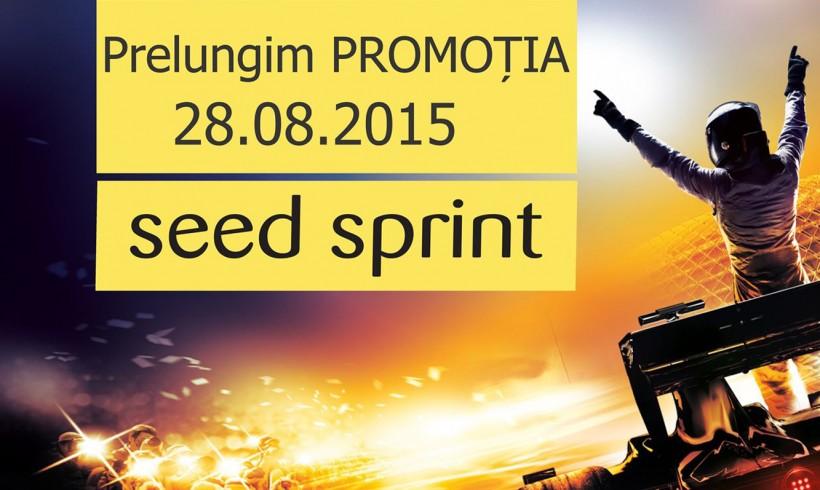 """Prelungim promoția """"Seed Sprint te duce la Formula 1″ -28.08.2015"""