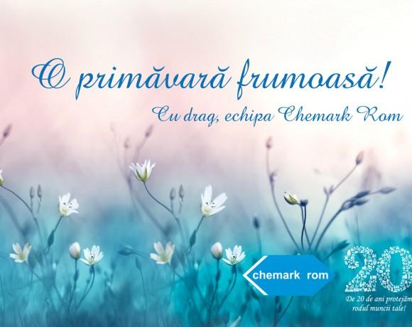 Echipa Chemark Rom vă dorește o primăvară frumoasă!