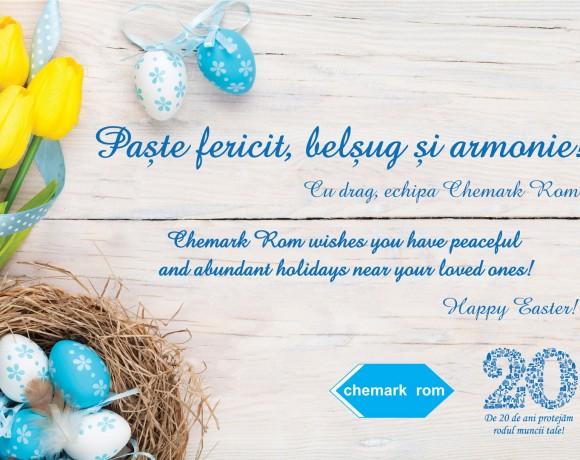 Chemark Rom vă urează Paște Fericit!