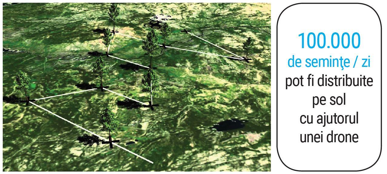 dronele distribuie seminte