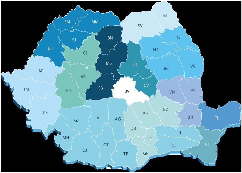 Harta retea distributie Chemarkrom